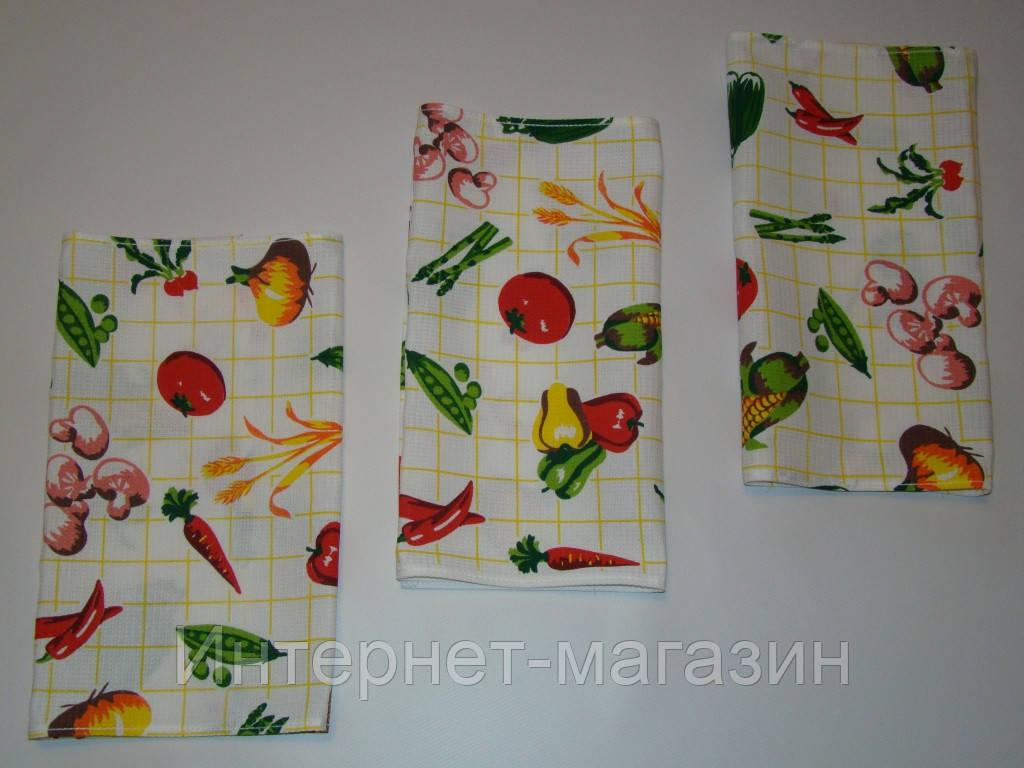 Кухонное вафельное полотенце (35х56см, 35х76см) код 0055