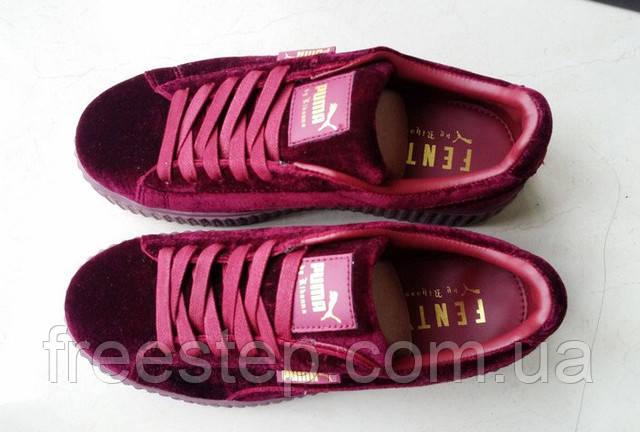 914bc16de192 Женские кроссовки PUMA Rihanna Suede Creeper