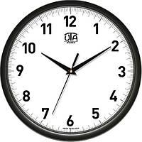 Офисные настенные часы 300Х300Х45мм [Пластик, Под стеклом] UTA-01-B-39 черные