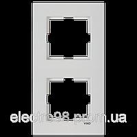 Двойная рамка VI-KO Karre вертикальная скрытой установки (белая)