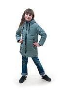 Демисезонная детская куртка для девочки Вика, фисташка