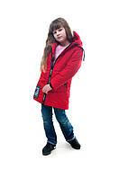Демисезонная детская куртка для девочки Вика, красный