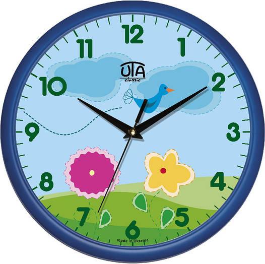 Настенные часы в детскую комнату 300Х300Х45мм [Пластик, Под стеклом]