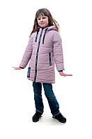 Демисезонная детская куртка для девочки Вика, розовый