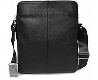 Практичная кожаная сумка для мужчин формата А5 черная ALVI av-4-4331