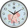 """Часы настенные для детей 300Х300Х45мм """"Розовый слон"""" [Пластик, Под стеклом]"""
