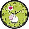"""Настенные часы в детскую комнату 300Х300Х45мм """"Овечка"""" [Пластик, Под стеклом]"""