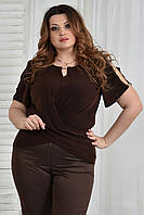 Женская блузка 0347 шоколад 56 размер