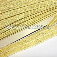 Резинка для повязок (эластичная тесьма), с люрексом, цвет св.золото