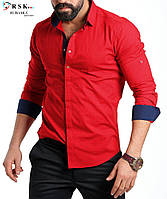 Мужская рубашка с длинным рукавом, пр-во Турция