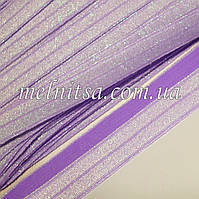 Резинка для повязок (эластичная тесьма), цвет сиреневый, люрекс хамелеон