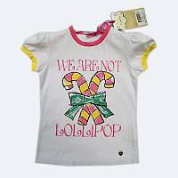 Белая футболка для девочки с принтом We Are Not Lollipop