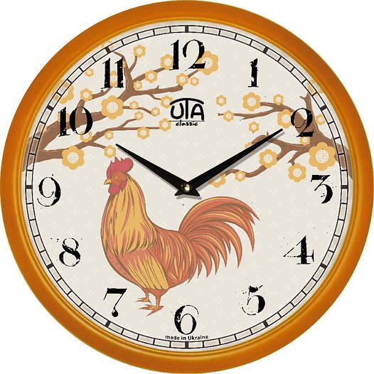 "Настенные часы 300Х300Х45мм ""Петушок"" [Пластик, Под стеклом]"