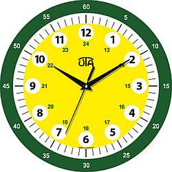 """Детские настенные часы 330Х330Х30мм """"Учим время"""" [МДФ, Открытые]"""