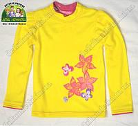 Лонгслив желтый, футболка с длинным рукавом для девочки Цветы