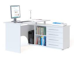 Белый письменный стол - изысканный внешний вид.