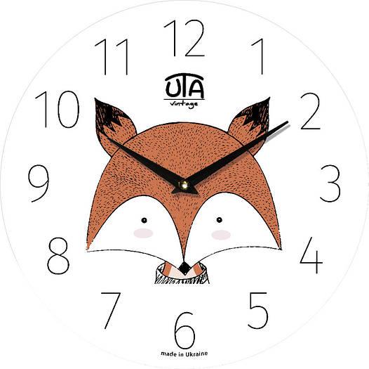 "Настенные часы детские 330Х330Х30мм ""Лис"" [МДФ, Открытые]"