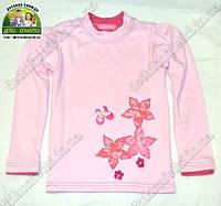 Лонгслив розовый, футболка с длинным рукавом для девочки Цветы