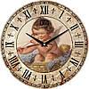 """Настенные часы 330Х330Х30мм """"Ангелочек"""" [МДФ, Открытые]"""