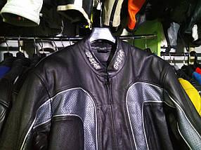 Мото куртка б/у кожа с перфорацией, фото 2