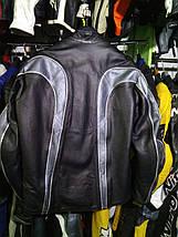 Мото куртка б/у кожа с перфорацией, фото 3