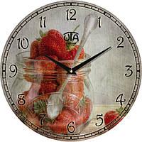 """Настенные часы на кухню """"Малина"""" [МДФ, Открытые]"""