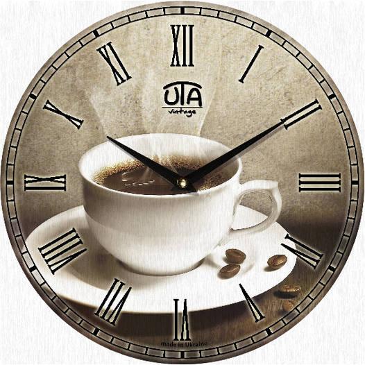 "Часы кухонныe ""Чашка кофе"" [МДФ, Открытые]"