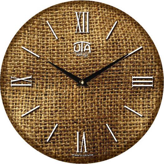 """Настенные часы в кухню 330Х330Х30мм """"Рогожка"""" [МДФ, Открытые]"""