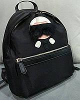 Модный женский рюкзак Фенди Fendi черный