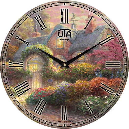 """Настенные часы 330Х330Х30мм """"Летний пейзаж"""" [МДФ, Открытые]"""