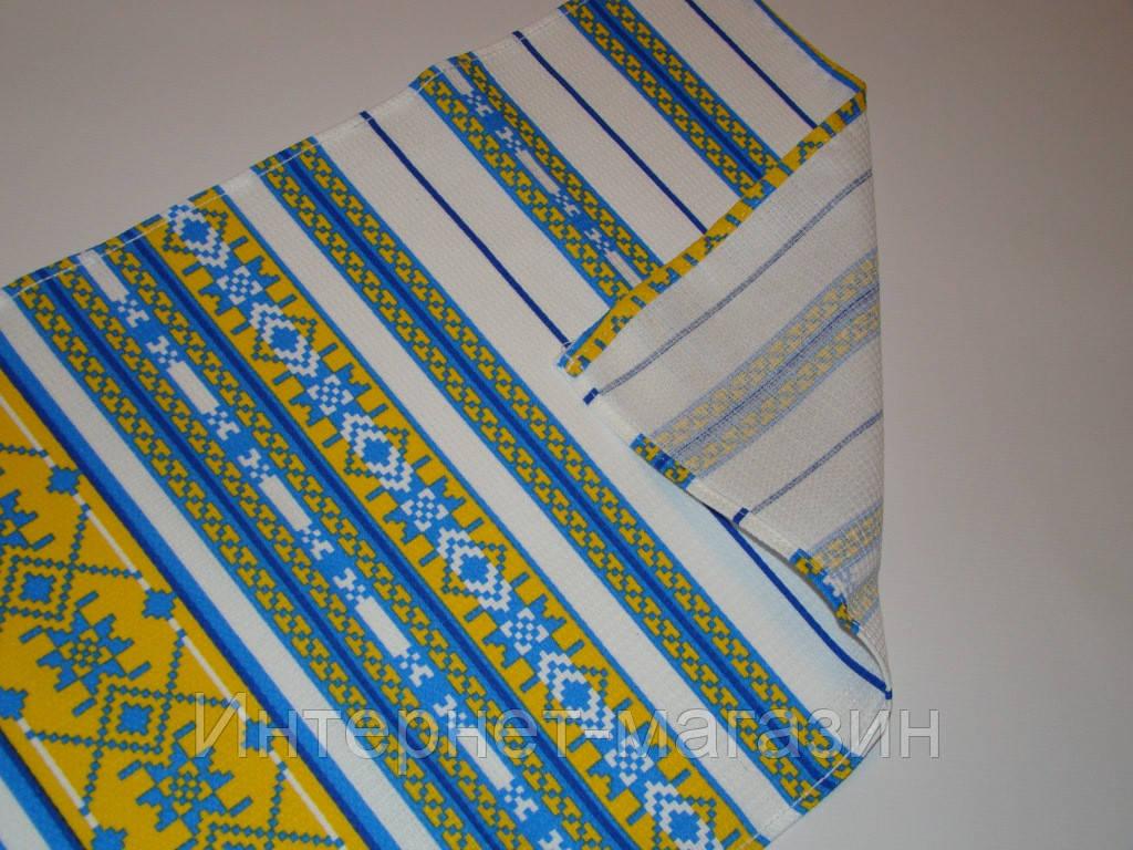 Кухонное вафельное полотенце (35х76см) код 0062