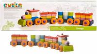 Деревянная игрушка конструктор Поезд LP-1 Кубика 11681