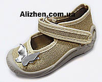 Детские текстильные тапочки для девочки р. 20, 21, 22, 23, 24, 25 тм 3F (Польша) текстильная обувь, мокасины.