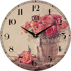 "Настенные часы в стиле прованс 330Х330Х30мм ""Прованс"" [МДФ, Открытые]"