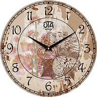 """Часы настенные винтаж 330Х330Х30мм """"Прованс"""" [МДФ] UTA-036-VP бежевые"""