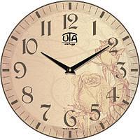 "Часы настенные под ретро 330Х330Х30мм ""Прованс"" [МДФ] UTA-054-VP бежевые"