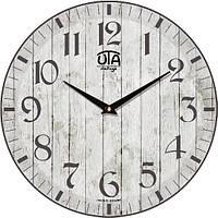 """Часы интерьерные винтаж 330Х330Х30мм """"Прованс"""" [МДФ] UTA-057-VP серые"""