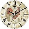 """Настенные часы 330Х330Х30мм """"Символ 2017г."""" [МДФ, Открытые]"""