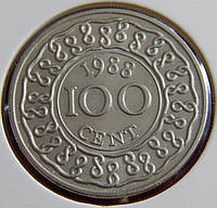 Монета Суринама. 1 цент 1977 год.