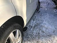 Volkswagen Touareg 2002-2010 гг. Боковые площадки Maya V2 (2 шт., алюминий)