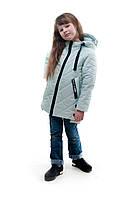 Демисезонная детская куртка для девочки Яна, мята