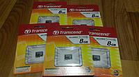 Карта памяти MicroSD Transcend 8GB 2 class