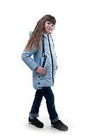 Демисезонная детская куртка для девочки Яна, голубой