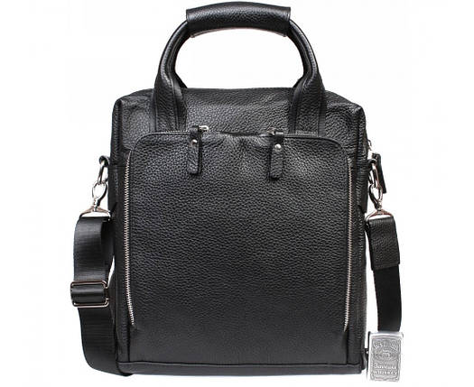 a7d593043712 Деловая мужская сумка формата А4 из натуральной кожи черная ALVI av-20-6006,
