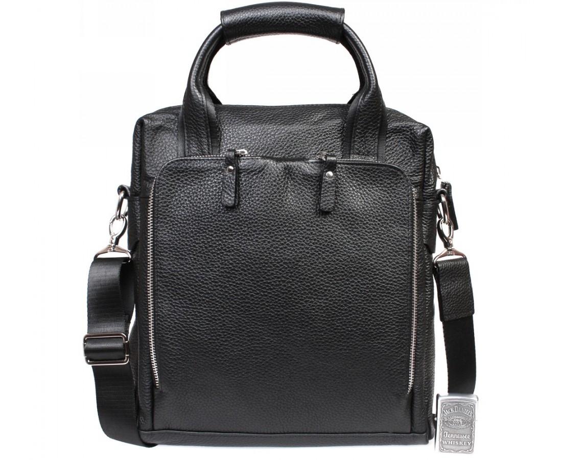 e60c748cd95f Деловая мужская сумка формата А4 из натуральной кожи черная ALVI av-20-6006