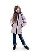 Демисезонная детская куртка для девочки Яна, розовый