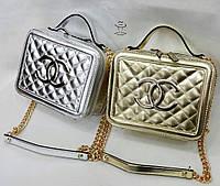 Женская, модная и стильная сумка очень яркая серебряная и золотая#19