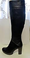 Женские ботфорты кожаные, в наличии 38 размер, евро зима