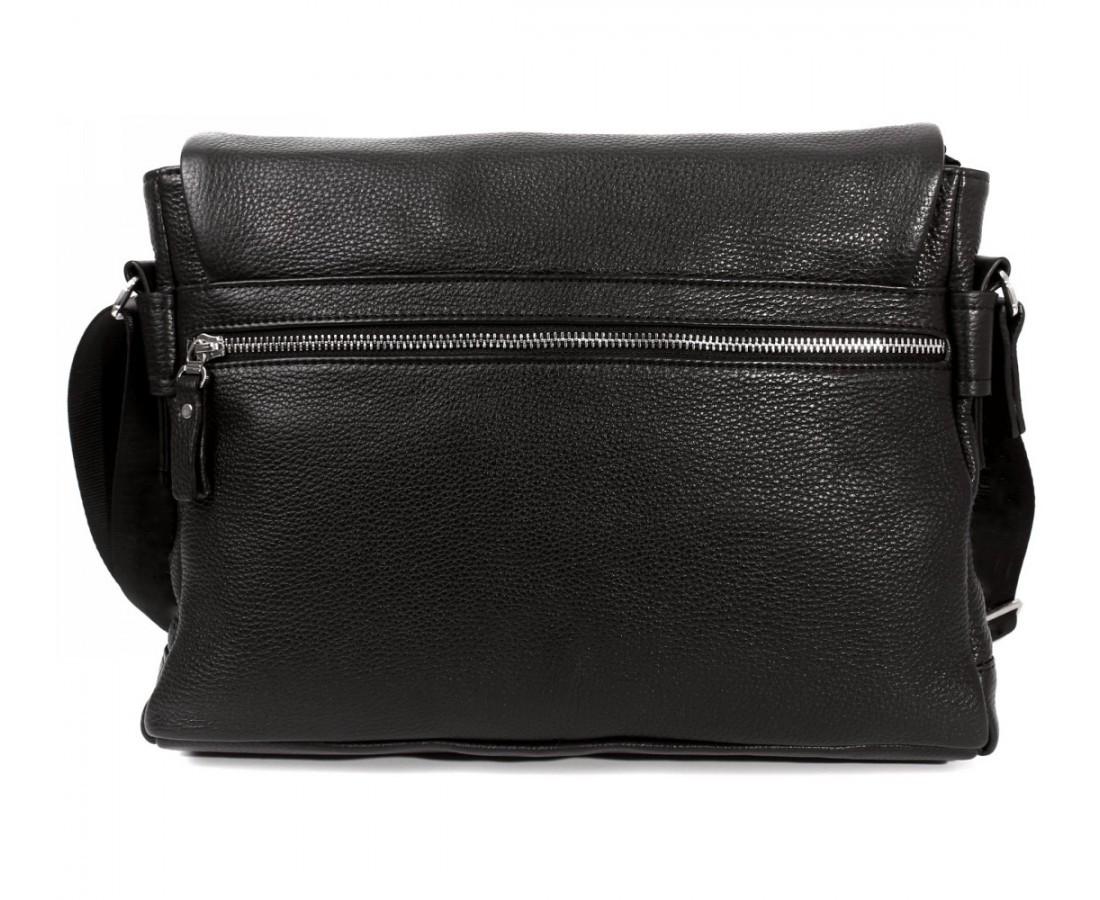 10af29b51861 Горизонтальная мужская кожаная сумка формата А4 черная ALVI av-30-18187,  цена 3 711 грн., купить в Киеве — Prom.ua (ID#473090544)
