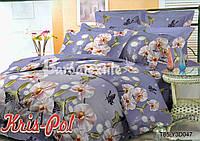 """Комплект постельного белья двуспальный евро """"Сияние орхидеи""""."""